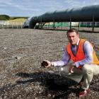 Dunedin City Council wastewater treatment manager Chris Henderson checks a malfunctioning...