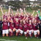 Dunedin Tech celebrate their semi-final win in Wellington. Photo via Facebook