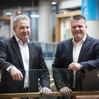 Fonterra chairman John Monaghan (left) and interim chief executive Miles Hurrell. PHOTO: THE NEW...