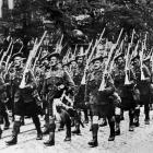 The Scottish regiments made a fine display of manhood on the occasion of the French National Fete...