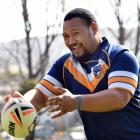 Otago Whaler Louis Tili has a run around at the University of Otago Oval before today's match...