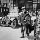 The Rt Hon William Massey, Prime Minister of New Zealand, arriving in France on his way to visit...