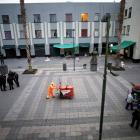 A general views shows a crime scene on the edge of the tourist Plaza Garibaldi in Mexico City....