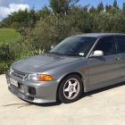 Mitchell Agnew's stolen Mitsubishi Lancer Evolution III. Photo: Supplied via NZ Herald