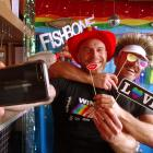 Winter Pride owners Martin King (left) and Mike Hughes try out the selfie wall at Queenstown...