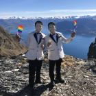 Edgar Allan Caper and James Contemplacion tie the knot during Winter Pride. Photos: Supplied