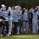 Otago Boys' High School fans show their support during the First XV rugby match against Southland...