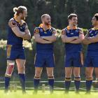 Otago players (from left) Josh Dickson, Matt Faddes, Michael Collins and captain Sam Anderson...