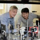 University of Otago research leader Prof Richard Blaikie and physics research fellow Dr Boyang...