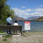 The Otago Regional Council put up signs around Lake Hayes in February advising against...