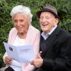 Colleen (86, nee Rowe)  and George (93) Reid celebrate 70 years of marriage at the weekend. Photo...