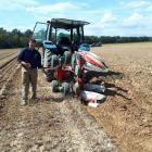 Timaru ploughman Bob Mehrtens measures his progress on German soil at the world champs. Photo:...