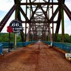 The Chain of Rocks Bridge across the Mississippi. PHOTOS: MIKE YARDLEY...
