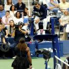 Serena Williams argues with Carlos Ramos during the US Open women's singles final. Photo: Getty...