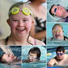 Dunedin secondary school pupils at a Special Olympics-organised event at Moana Pool yesterday ...