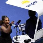 Serena Williams of the United States yells at chair umpire Carlos Ramos. Photo: Reuters