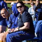 New Otago Touch life member Toni Wall manages the Otago Spirit in its Farah Palmer Cup game last...