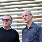 MBA director Ian Lafferty (left) and theology professor Paul Trebilco. Photo: Peter McIntosh