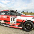Aucklander Haydn Mackenzie and Hamilton-based co-driver Matty Sayers in their Mitsubishi Evo 10...