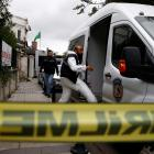 Turkish police forensic experts arrive at the residence of Saudi Arabia's Consul General Mohammad...