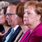 German Chancellor Merkel attends the national integration prize ceremony at the Chancellery in...