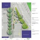 An image depicting the planned bee-themed 'pocket park'. Photo: Supplied