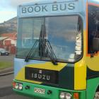 Cropped photo of the front of the Dunedin bookbus. Photo: ODT file