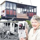 Roslyn No 95 being lifted into its new Mornington home last week; Tramway Historical Society...