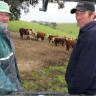 Continuing the inter-generational lineage of their family farm are Ken (left) and Bryce Rishworth...