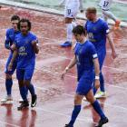 Southern United players (from left) Abdulla Al-Kalisy, Omar Guardiola, Stephen Last and Markus...