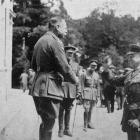 Field Marshal Sir Douglas Haig and General McCrae during a visit by Canadian journalists to the...