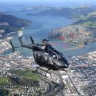 Helicopters Otago's new air ambulance helicopter, a twin-engine Eurocopter 145, gets a feel for...