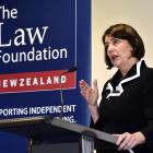 Chief District Court Judge Jan-Marie Doogue addresses the Dunedin legal community yesterday....