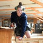 Apprentice Kirsty Currie gets to work in the Otago Polytechnic workshop. PHOTO: LINDA ROBERTSON