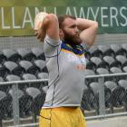 Otago hooker Liam Coltman at training at Forsyth Barr Stadium yesterday. Photo: Linda Robertson