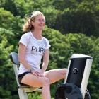 Margie Campbell at the Ravensbourne cycleway yesterday after her unfortunate end to the weekend's...