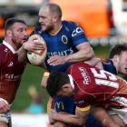 Matt Faddes takes the ball into contact for Otago against Southland this year. Otago is keen to...