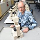 Associate Prof Mark Lokman, of the University of Otago, is shipping 21 Olympus microscopes to...