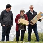 Predator Free Dunedin project manager Rhys Millar (left), Conservation Minister Eugenie Sage and...