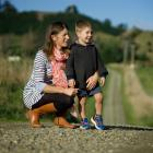Nadine Tomlinson and son Angus (3), who both died on the family farm. Supplied via NZ Herald