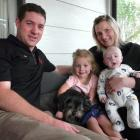 The Sutton family, of Kaitangata, (from left) Gavin, Kyla (3), holding Otis the dog, Tania and 4...