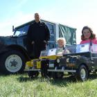 Oamaru man Ross Hayes shows off his home-built 1954 Land Rover Series 1 and the pedal car...