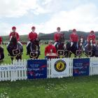 The red team from the host North Otago Pony Club of (from left) Summer Borrie (12, left), Alex de...