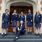 Otago Girls' High School Board of Trustees student representative Sabrina Swerdloff (17) displays...