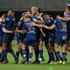 Otago players celebrate after beating Hawke's Bay in Saturday's semifinal. Photo: Getty Images