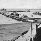 Timaru Harbour, showing the extensive breakwater. - Otago Witness, 30.10.1918.
