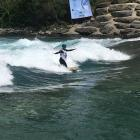 Tapanui's Anna Eade in action at the Hawea Whitewater Park during the Riverboarding World...