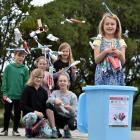 Esme Grey (6, right) has been collecting oral-care waste for recycling with fellow Big Rock...