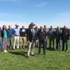 Members of the NZ Ploughing Association executive team and Rakaia Ploughing Association members...