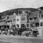 Vehicles drawn up in front of Ross Home, Normanby, North East Valley, during the opening ceremony...